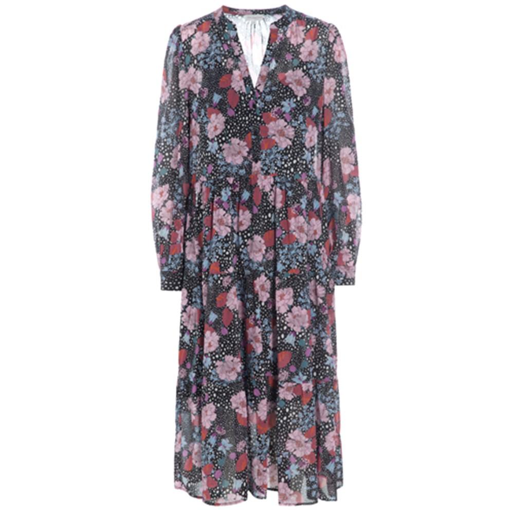 Cathrin Silk Dress - Flowerfield