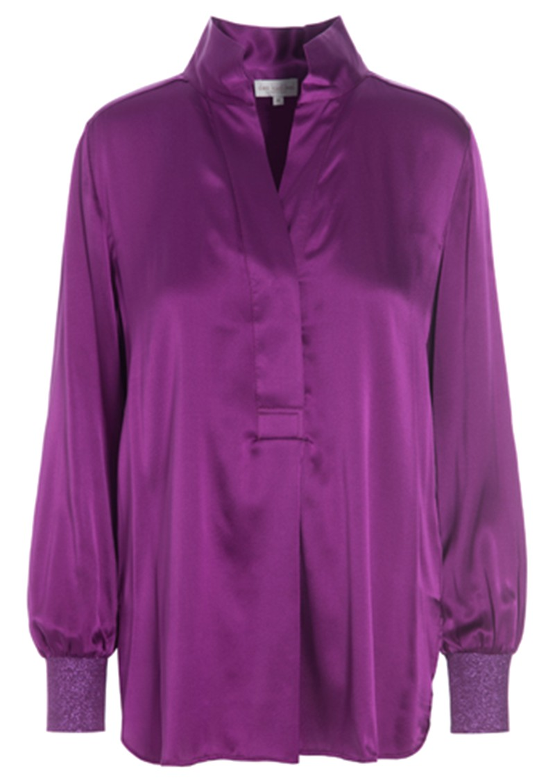 DEA KUDIBAL Kate Silk Tunic Blouse - Grape main image