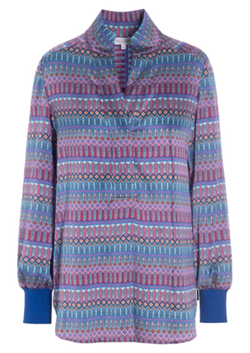 DEA KUDIBAL Kate Silk Tunic Blouse - Tapestry Blue main image