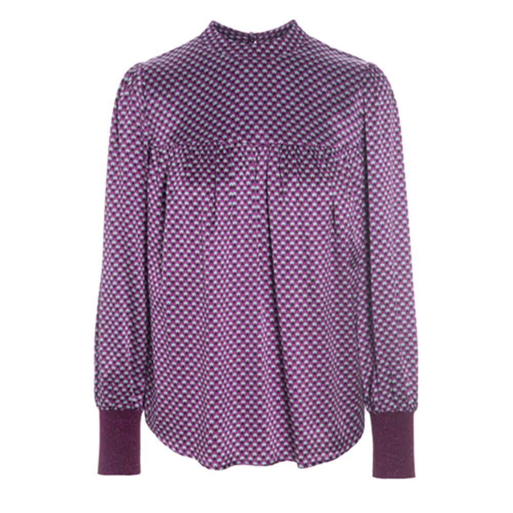 Hallie Silk Tunic Blouse - Madder Grape