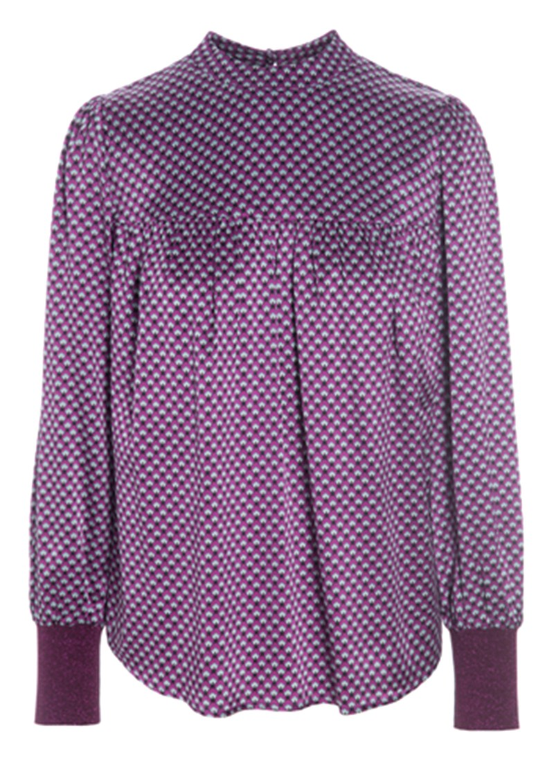 Hallie Silk Tunic Blouse - Madder Grape main image