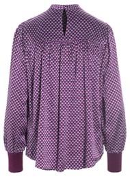 DEA KUDIBAL Hallie Silk Tunic Blouse - Madder Grape