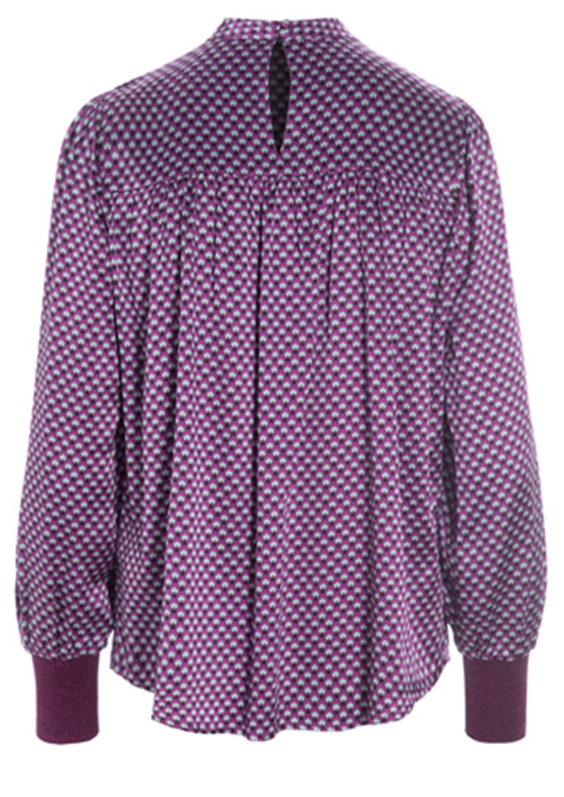 DEA KUDIBAL Hallie Silk Tunic Blouse - Madder Grape main image