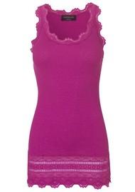Rosemunde Wide Lace Silk Blend Vest - Boysenberry