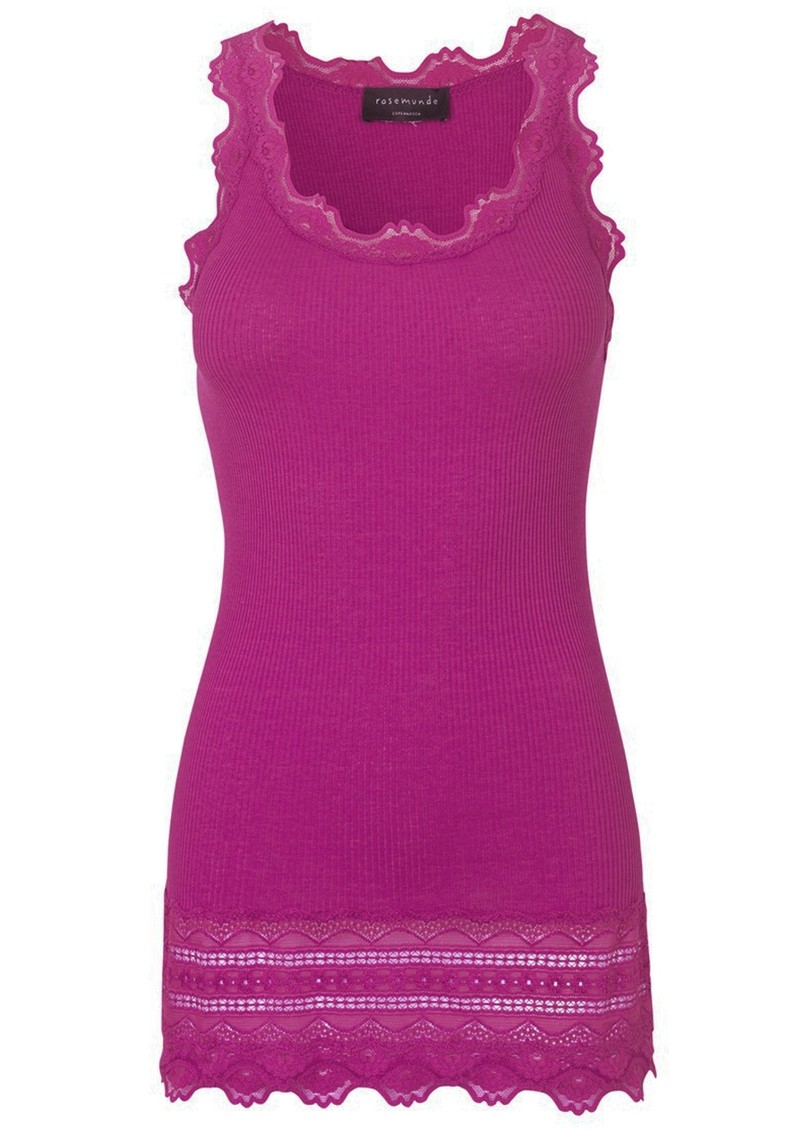 Rosemunde Wide Lace Silk Blend Vest - Boysenberry main image