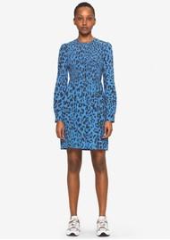 BAUM UND PFERDGARTEN Avaleigh Midi Printed Dress - Blue Leo