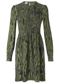 BAUM UND PFERDGARTEN Avaleigh Midi Printed Dress - Olive Wood