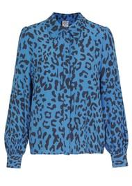 BAUM UND PFERDGARTEN Mafalda Printed Shirt - Blue Leo
