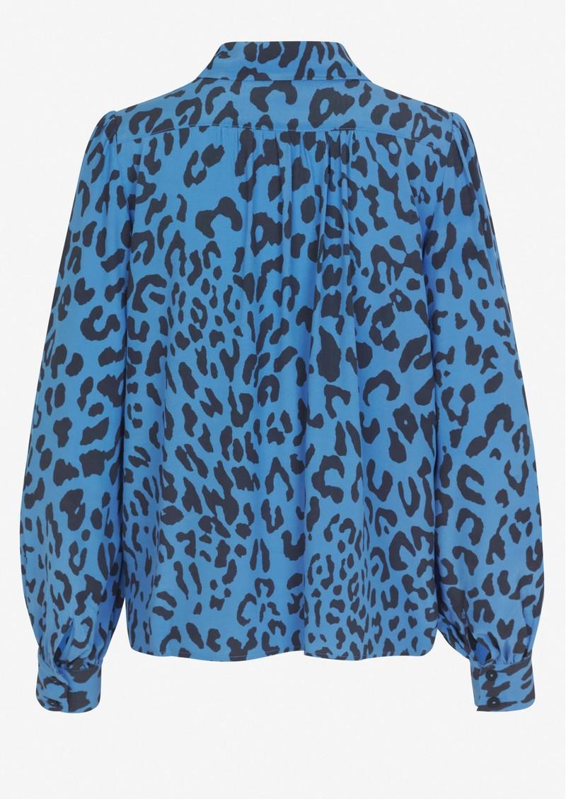 BAUM UND PFERDGARTEN Mafalda Printed Shirt - Blue Leo main image