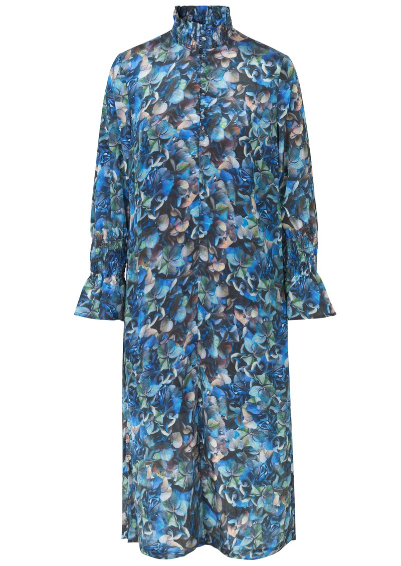 BAUM UND PFERDGARTEN Aeverie Printed Dress - Blue Hydrangea main image