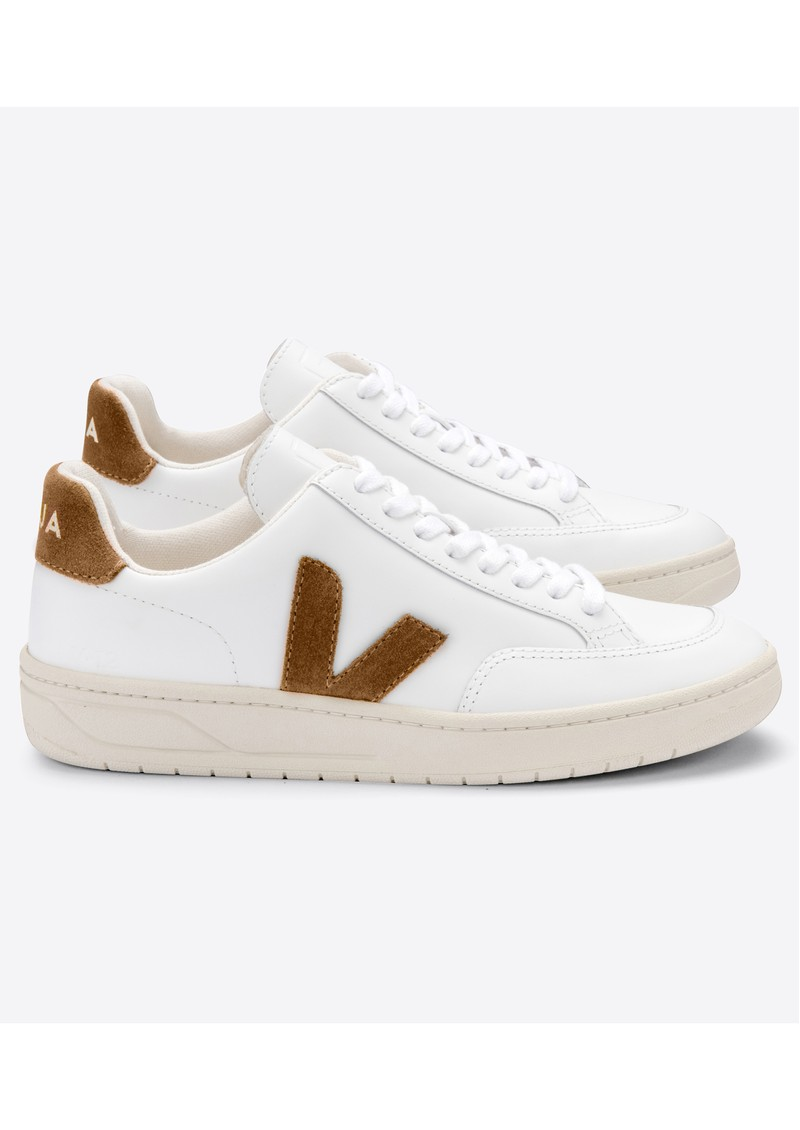 Inmunidad acidez compuesto  VEJA V-12 Leather Trainers - Extra White & Camel