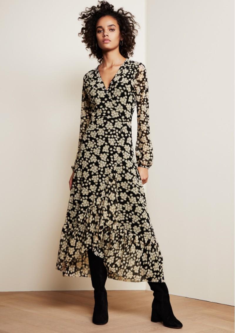 FABIENNE CHAPOT Natasja Frill Dress - Blossom Bouquet Black main image