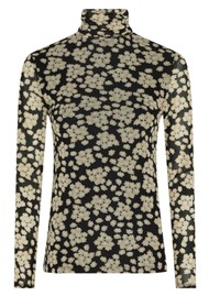 FABIENNE CHAPOT Jane Mesh Top - Blossom Bouquet Black