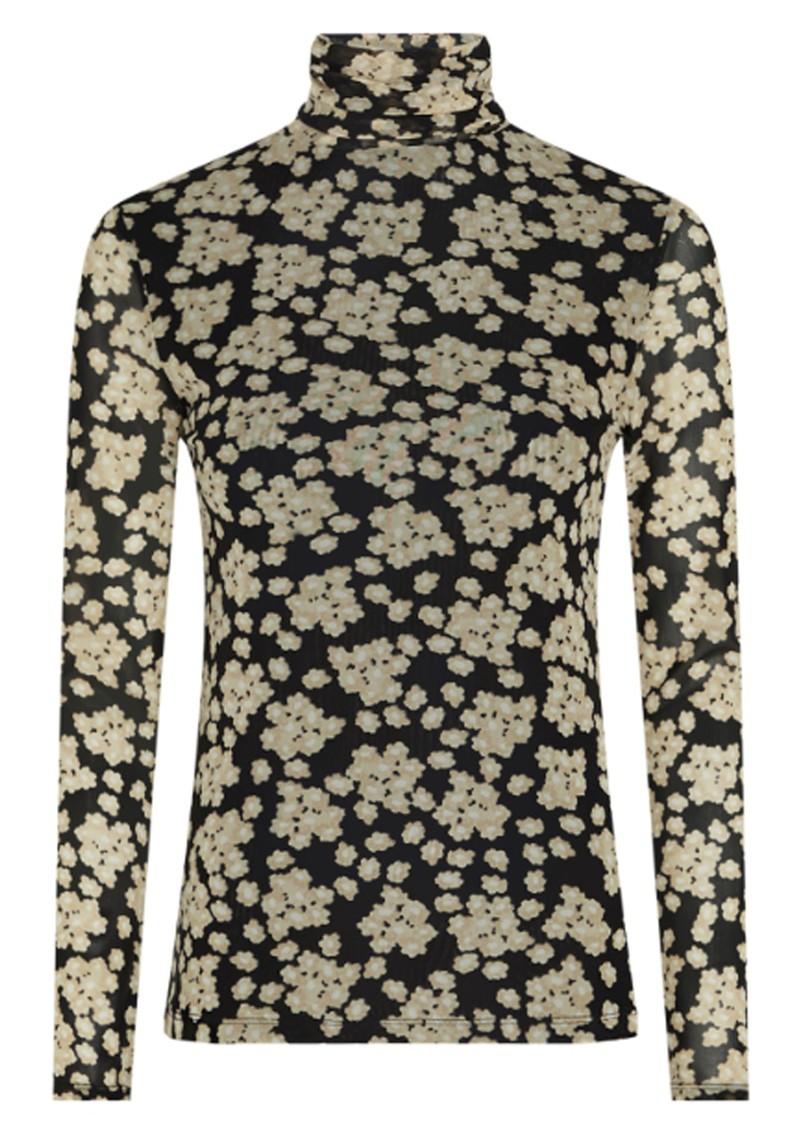 FABIENNE CHAPOT Jane Mesh Top - Blossom Bouquet Black main image