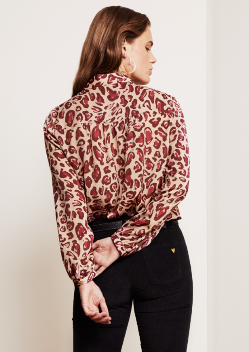 FABIENNE CHAPOT Mira Blouse - Cherry Cat main image