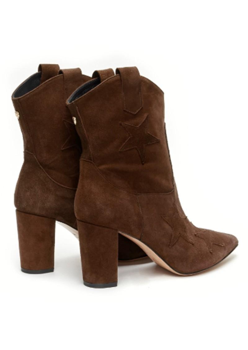 FABIENNE CHAPOT Hugo Star Suede Ankle Boots - Dark Brown main image