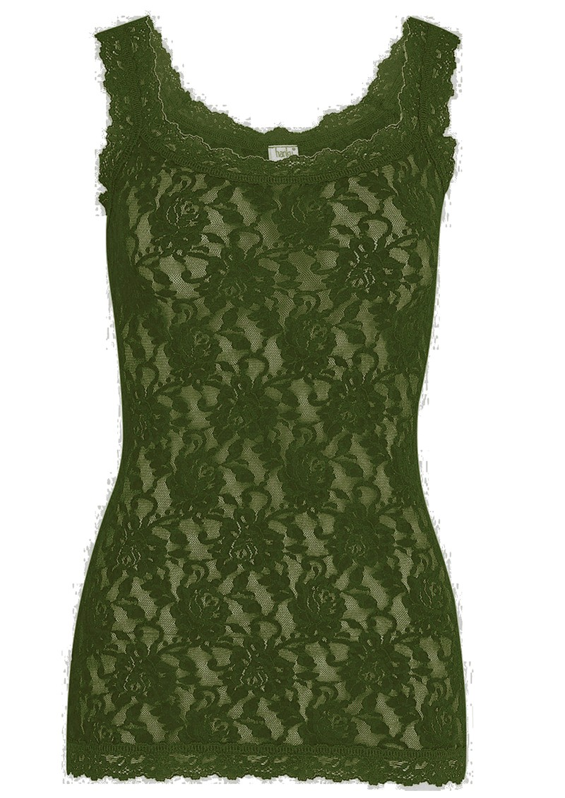 Hanky Panky Unlined Lace Cami - Woodland Green main image