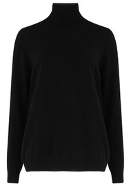 JUMPER 1234 Classic Roll Collar Cashmere Jumper - Black