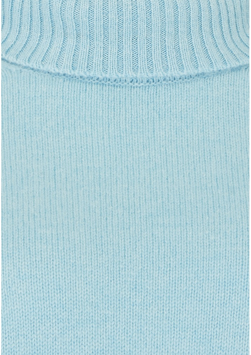 JUMPER 1234 Exposed Roll Collar Cashmere Jumper - Powder Blue main image