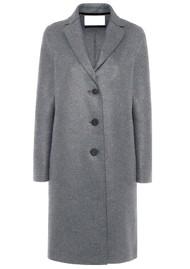 HARRIS WHARF Pressed Wool Overcoat - Grey Mouline