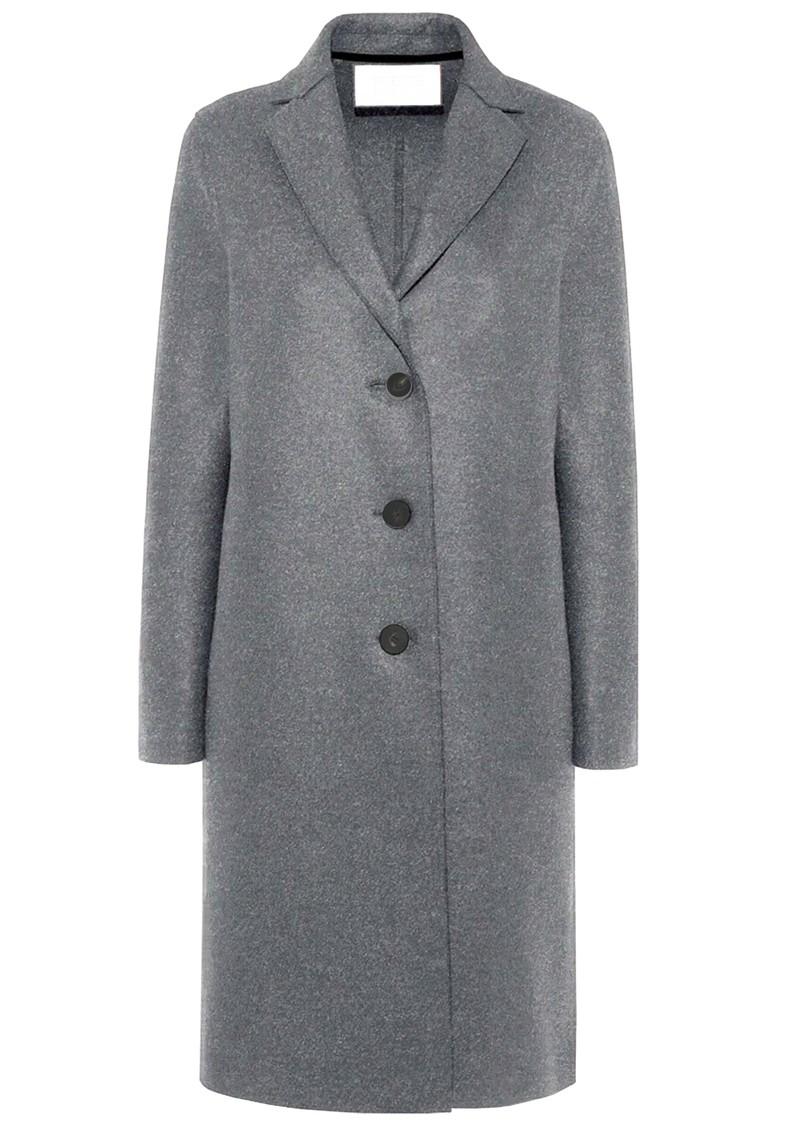 HARRIS WHARF Pressed Wool Overcoat - Grey Mouline main image
