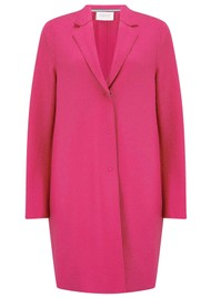 HARRIS WHARF Cocoon Wool Coat - Hot Pink