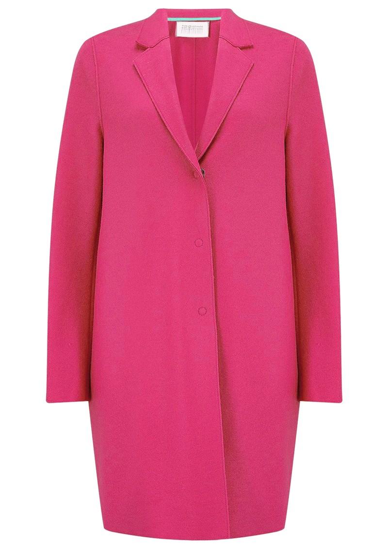 HARRIS WHARF Cocoon Wool Coat - Hot Pink main image