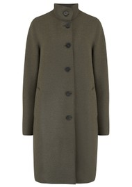 HARRIS WHARF Eggshaped Pressed Wool Coat - Hunting Green