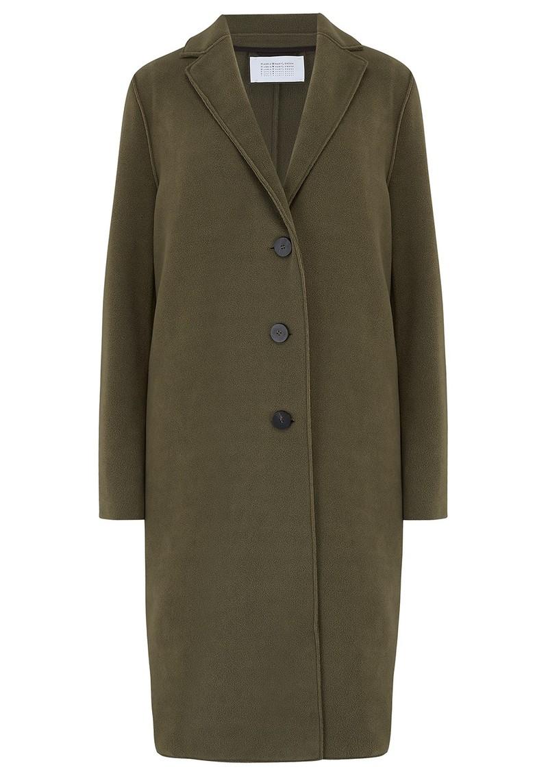 HARRIS WHARF Overcoat Polaire Coat - Moss Green main image