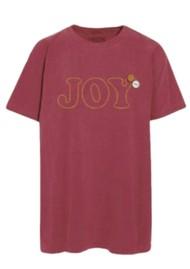 NEWTONE Joy Glitter T-Shirt - Brick