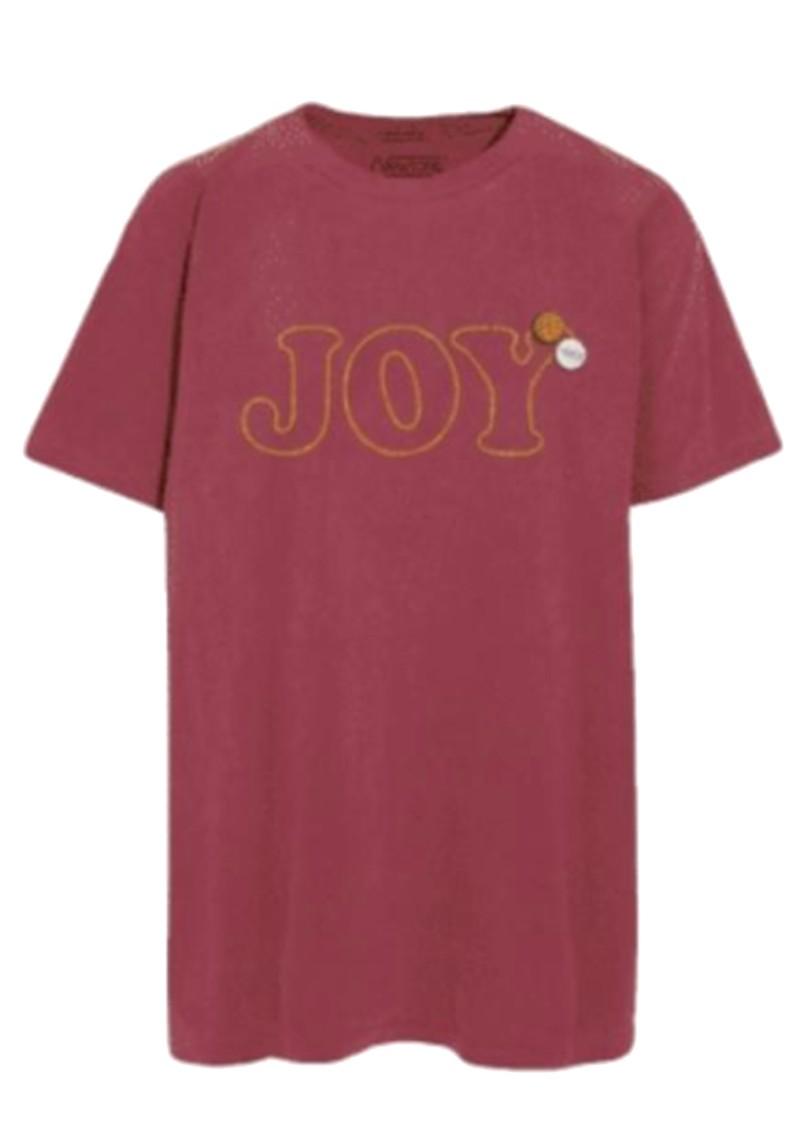 NEWTONE Joy Glitter T-Shirt - Brick main image