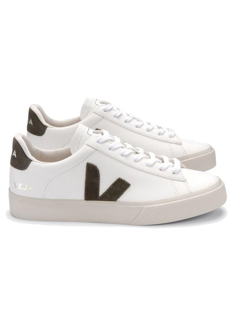 VEJA Campo Leather Trainers - Extra White & Kaki main image