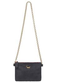 Sous Les Paves Chapala Python Print Leather Chain Crocodile Bag - Black