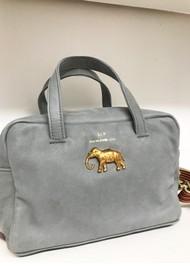 Sous Les Paves Marais Cowhide Leather Elephant Bag - Blue