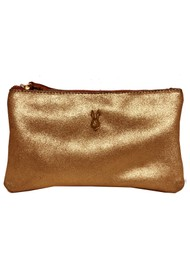 Sous Les Paves Tsutsuki Gold Bunny Leather Clutch - Copper