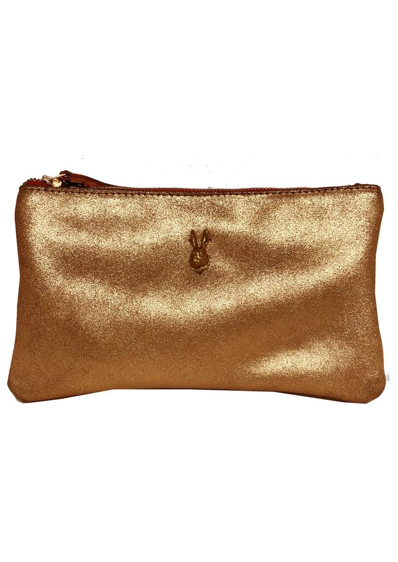 Sous Les Paves Tsutsuki Gold Bunny Leather Clutch - Copper main image