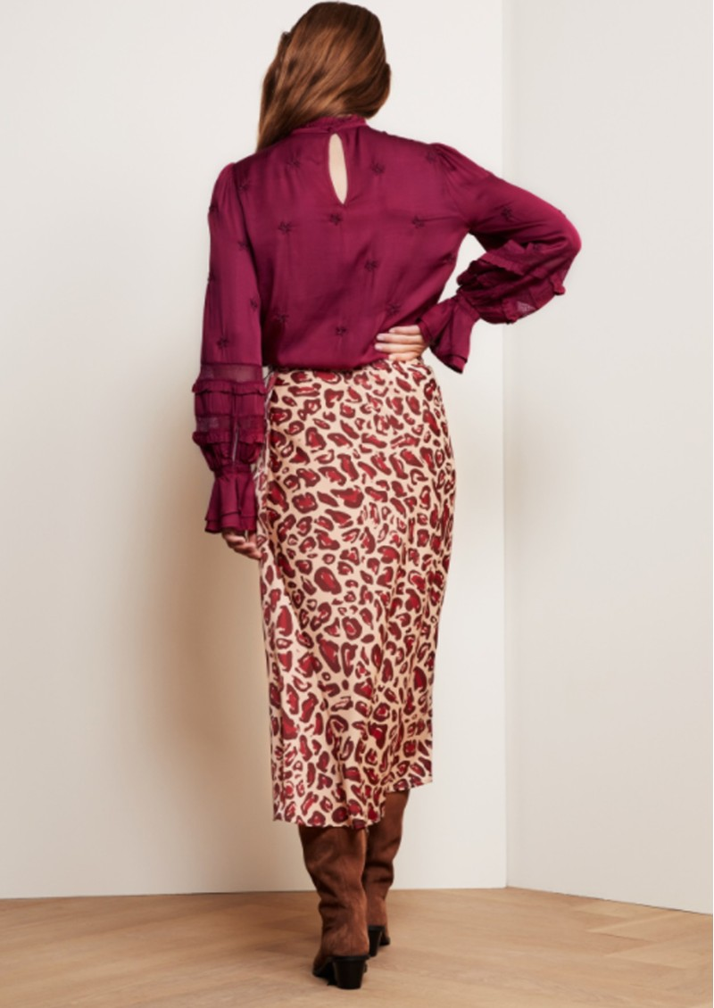 Claire Midi Skirt - Cherry Cat main image