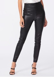 Paige Denim Sheena Leather Leggings - Black
