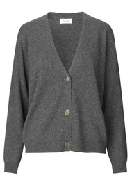 LEVETE ROOM Funda 7 Cardigan - Dark Grey