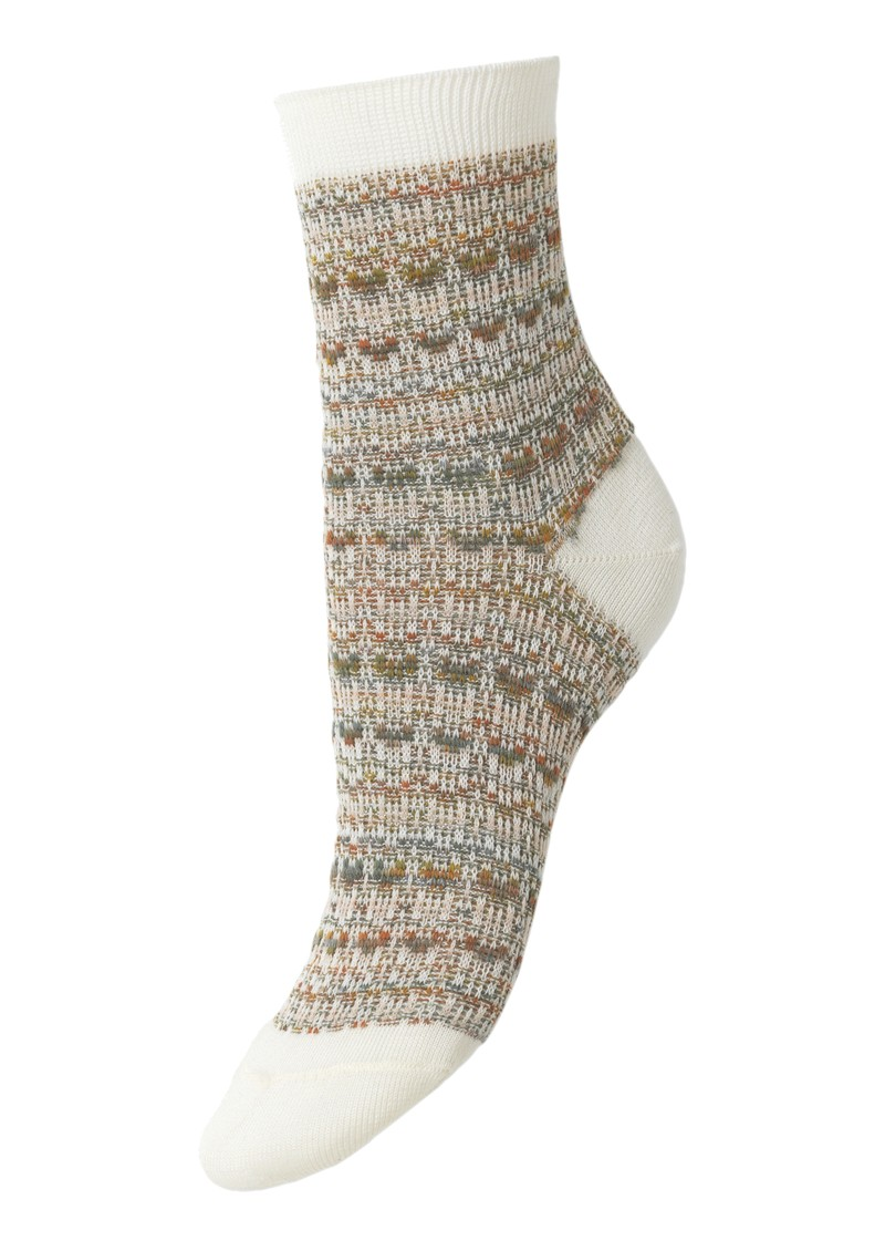 Becksondergaard Multi Athena Socks - White main image