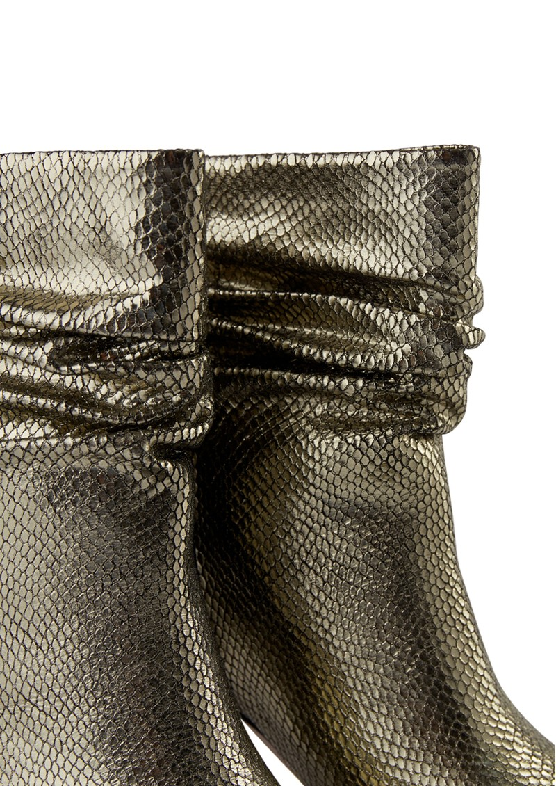 SHOE THE BEAR Agnete Slouchy Boot - Silver Snake main image