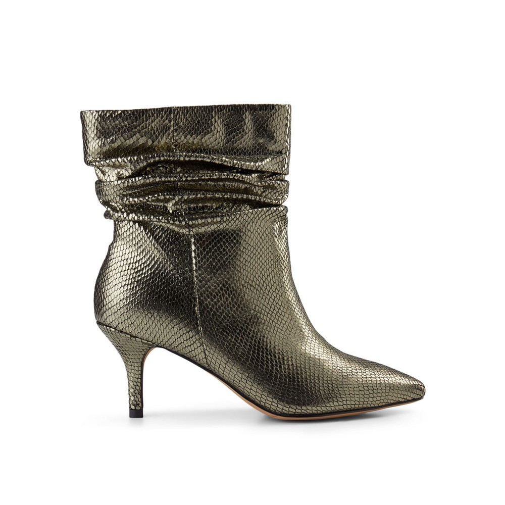 Agnete Slouchy Boot - Silver Snake