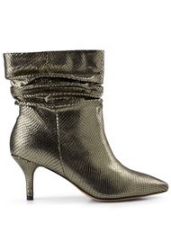 SHOE THE BEAR Agnete Slouchy Boot - Silver Snake