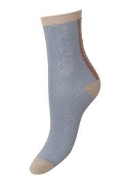 Becksondergaard Shimmer Pasha Socks - Quarry