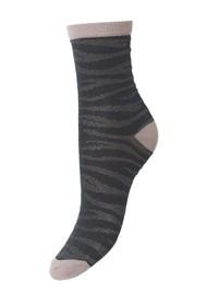 Becksondergaard Zebra Glitzi Socks - Darkest Spruce