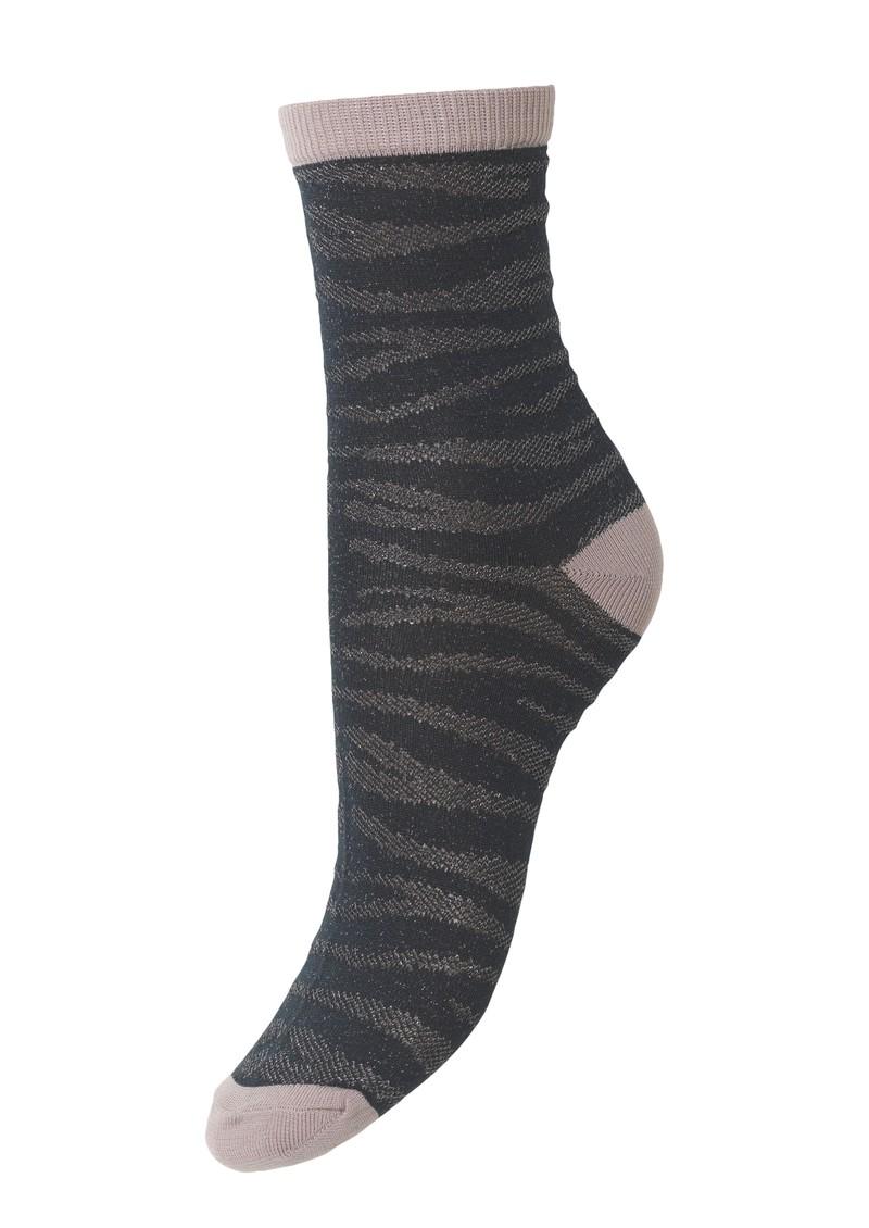 Becksondergaard Zebra Glitzi Socks - Darkest Spruce main image