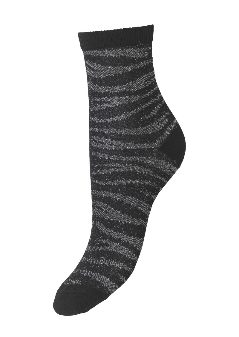 Becksondergaard Zebra Glitzi Socks - Black main image