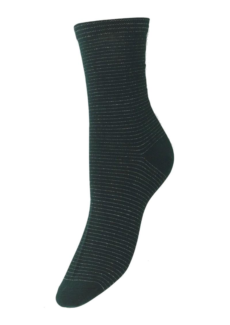Becksondergaard Dover Stripe Socks - Darkest Spruce main image