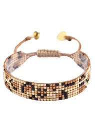 MISHKY Panthera Beaded Bracelet - Gold