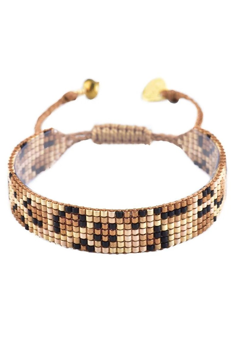 MISHKY Panthera Beaded Bracelet - Gold main image